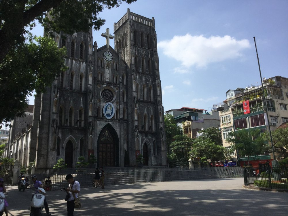 Saint Joseph's Cathedral in Hanoi. We heard its bells in our hotel.