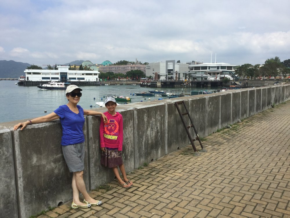 This is from the waterfront walk - the ferry pier is in the background. The island also has a grocery, a fish market, a library, a community center and a school.