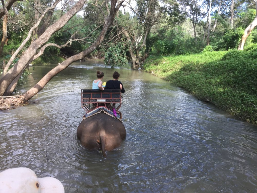 Part of the ride even went into a river.