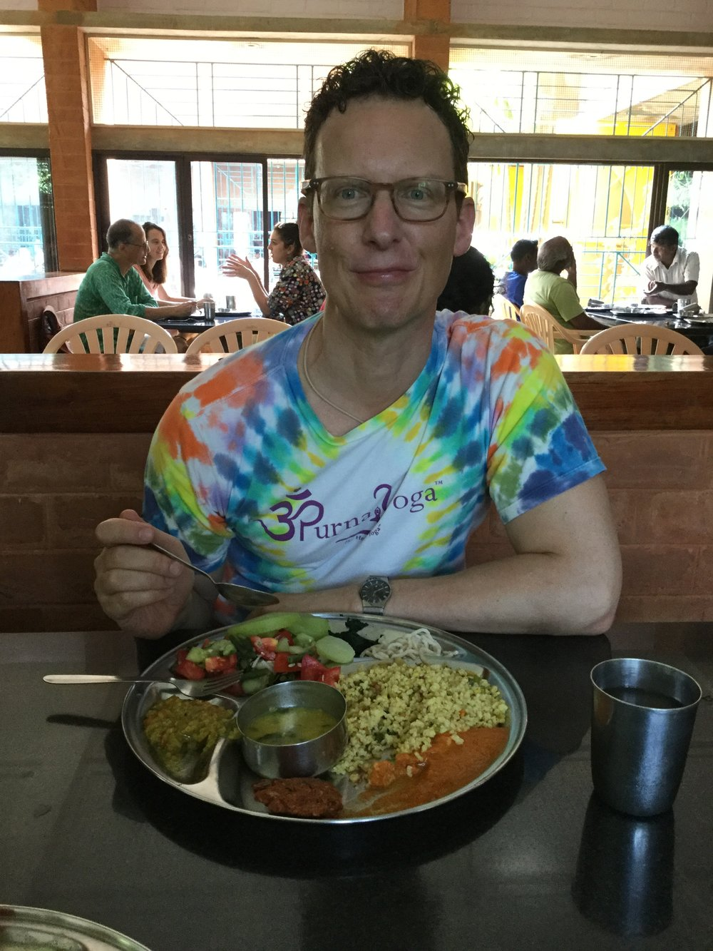 We had lunch at the Solar Kitchen - a real Auroville experience