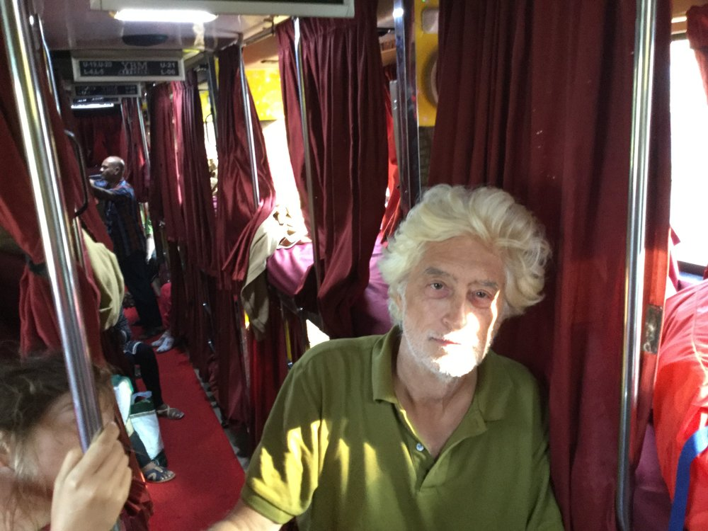 Dante on the bus.