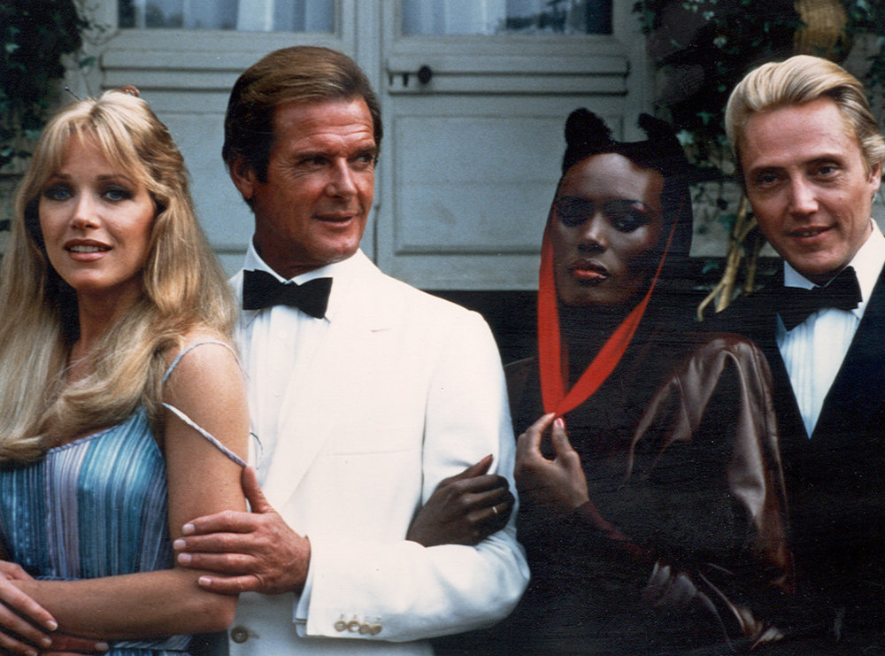 Oh yeah. Roger Moore and Grace Jones.
