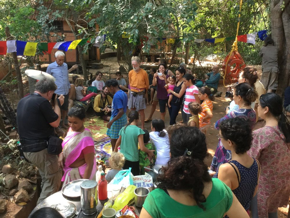 Pongal party in full swing.