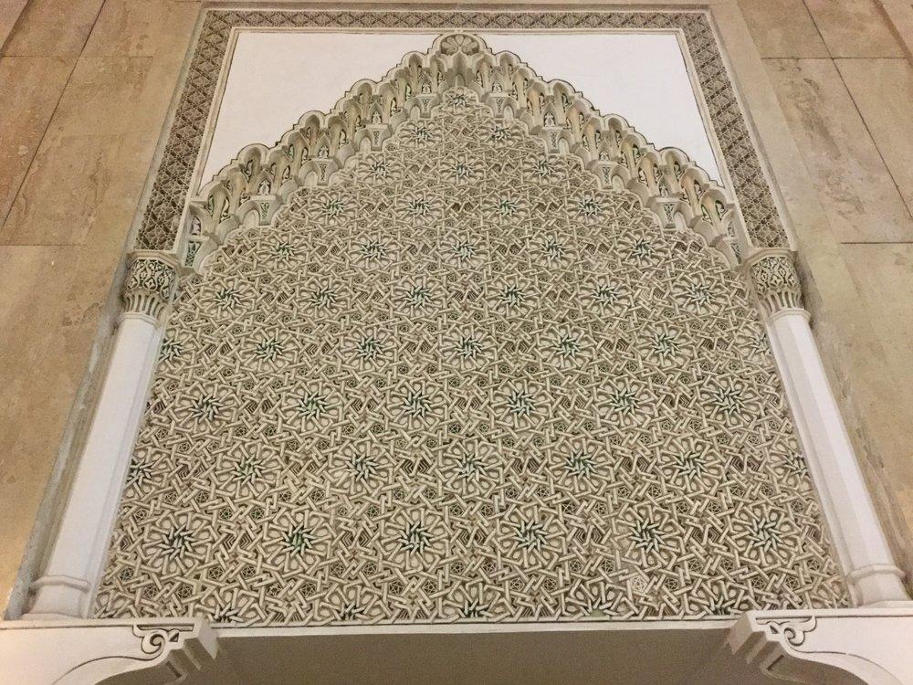 Stunning lattice carving.