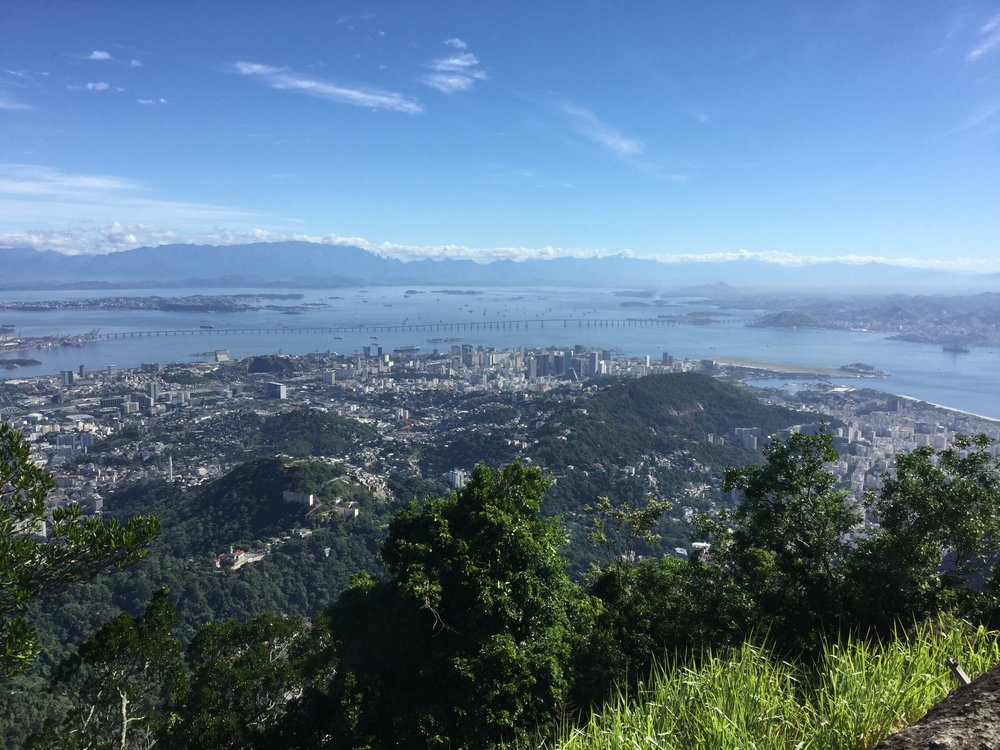 View towards 'centro'. The bridge in the background goes to Niteroi.