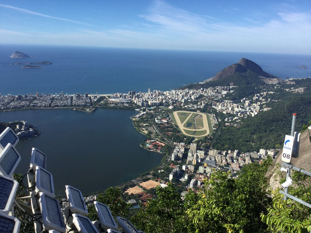 This view is towards De Freitas Lagoon and Ipanema and Copacabana beaches.