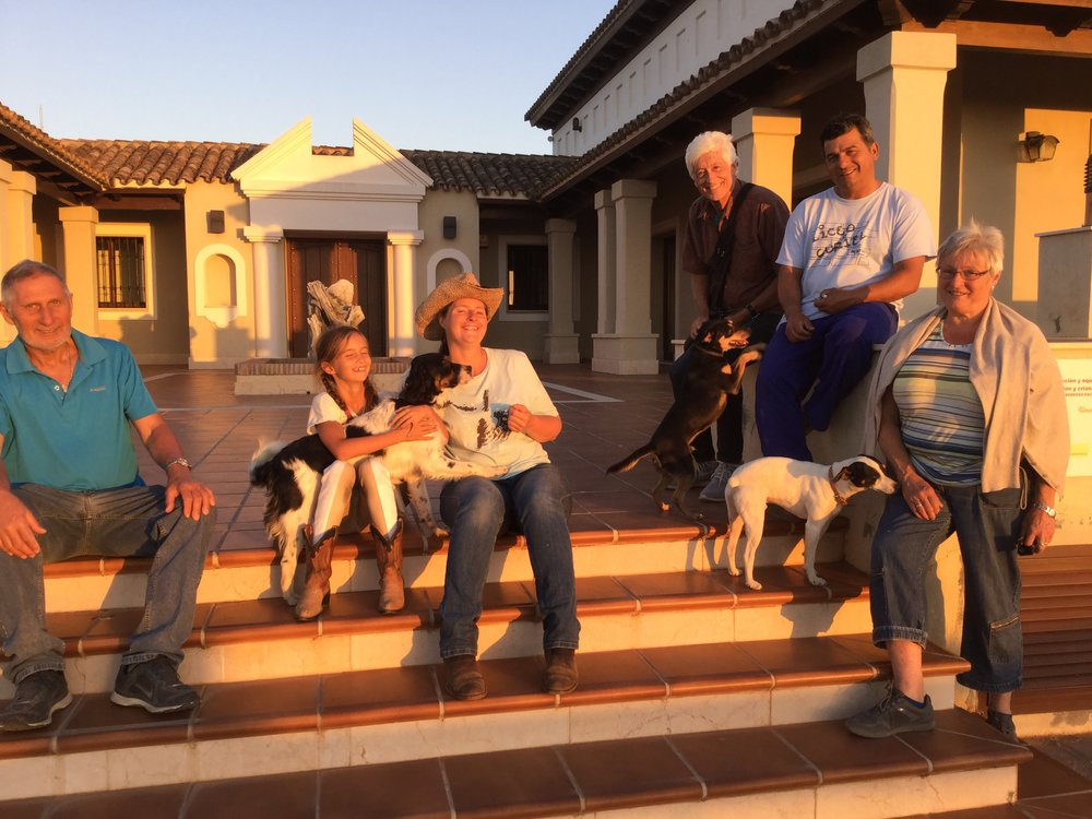 Our group: Alfred (Sandra's dad), Lili, Sandra, Dante, Lorenzo (winery caretaker) and Barbara (Sandra's mom).