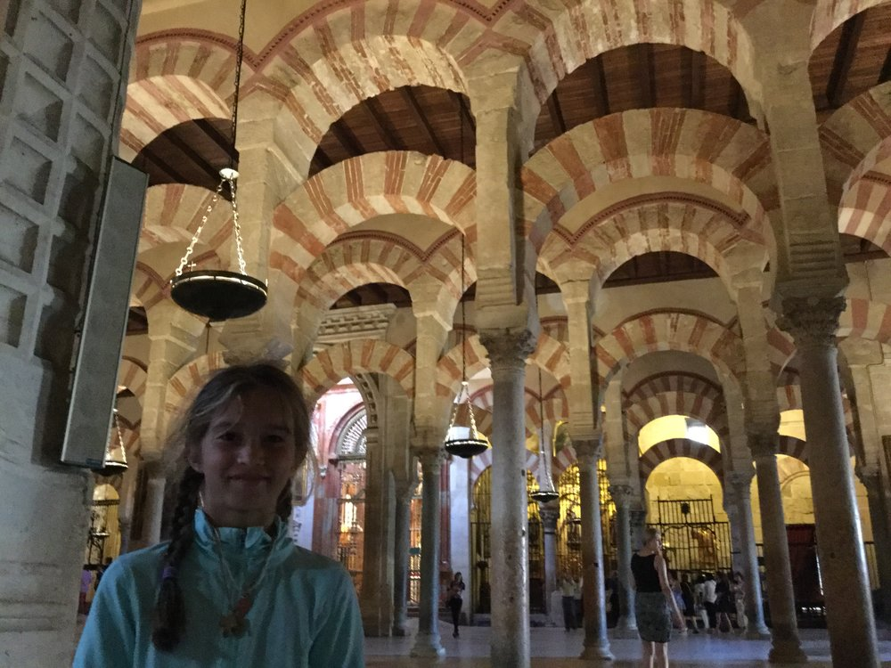 Inside. These arches have long since become the symbol of Cordoba.