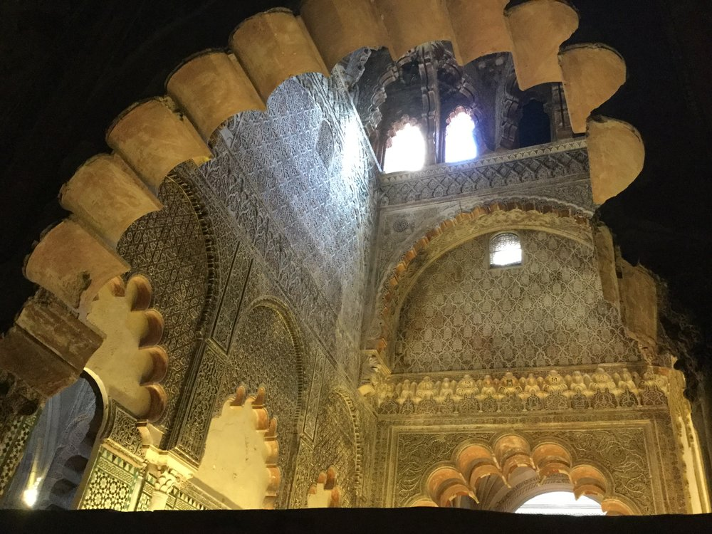 Beautiful decorations in the mosque part.