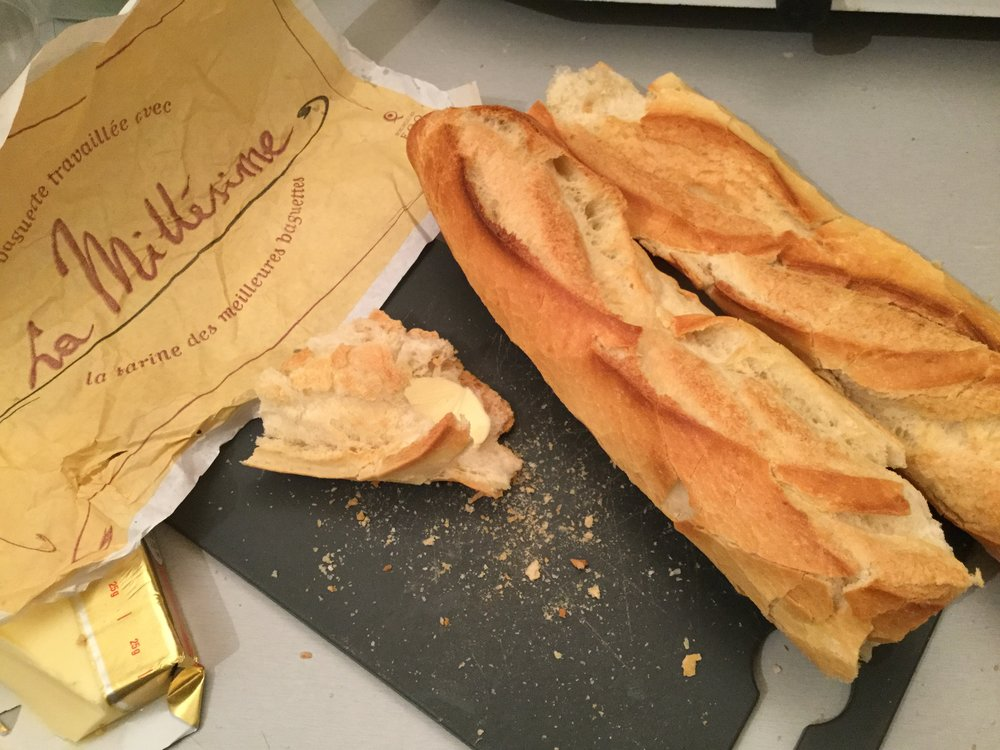 Nothing beats a warm Parisian baguette. They just don't taste the same elsewhere.