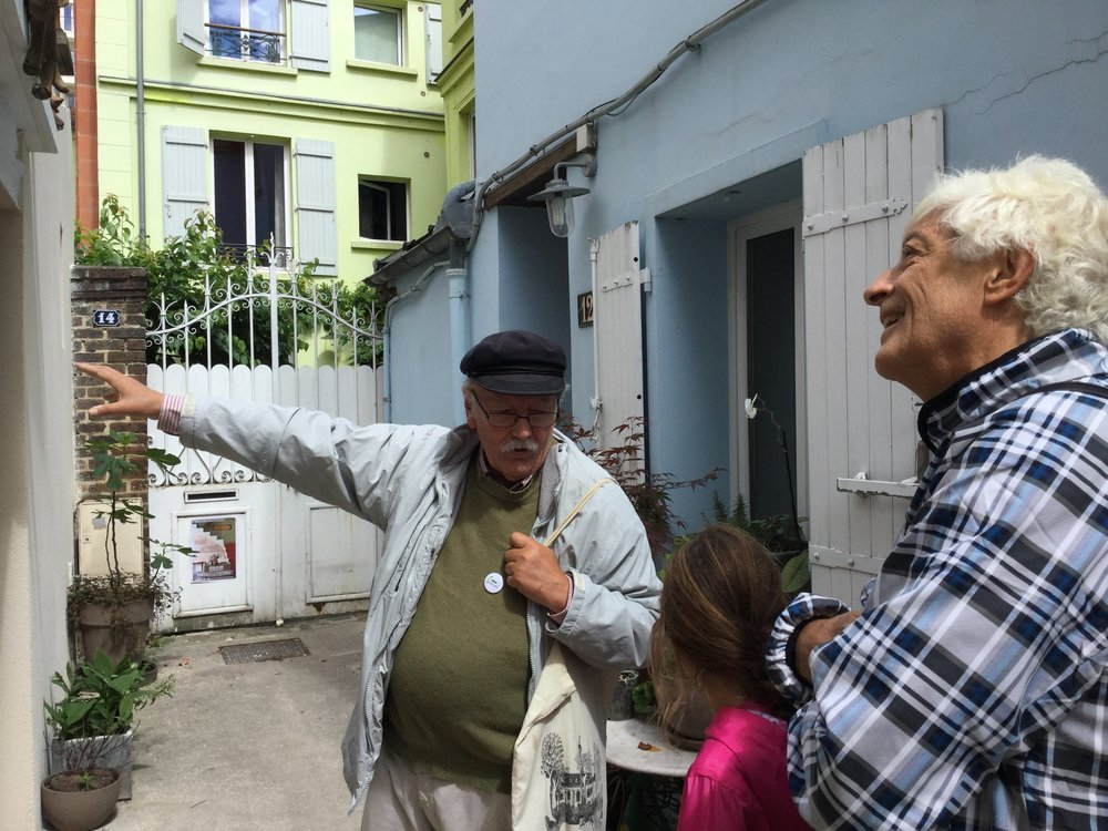 At the home of French musician George Brassens.