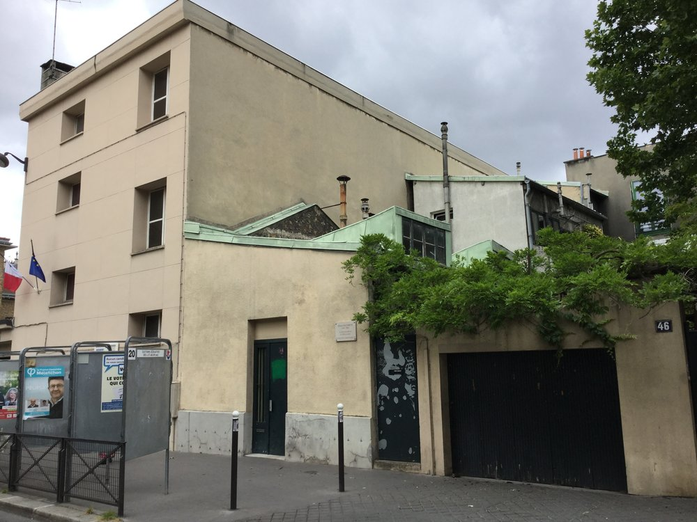 His here building was Alberto Giacometti's studio! There were so many artist residences in the area - we were impressed.