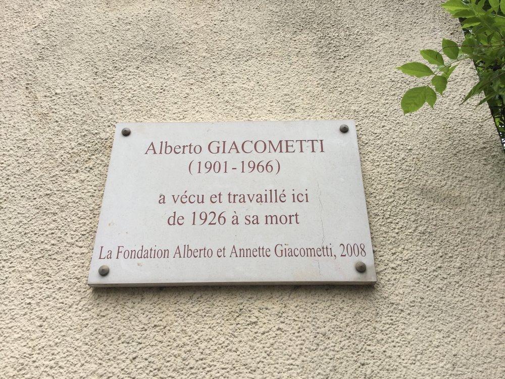 Giacometti studio.
