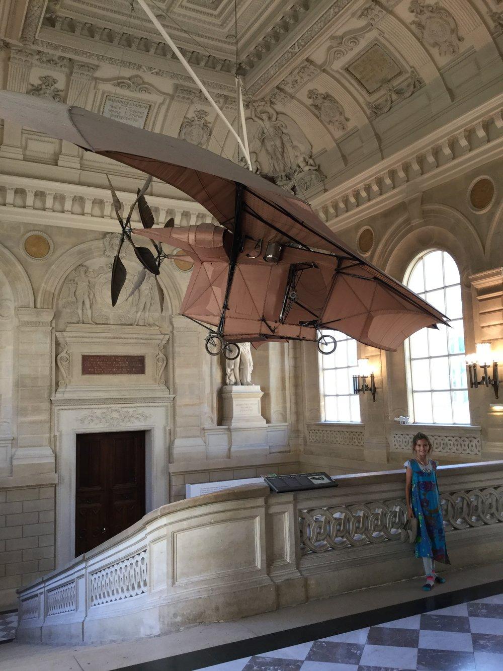A flying machine.