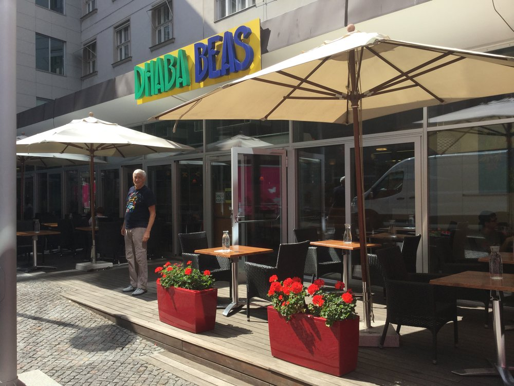 Dhaba Beas have four locations in Prague. We can walk to two of them, and love it.