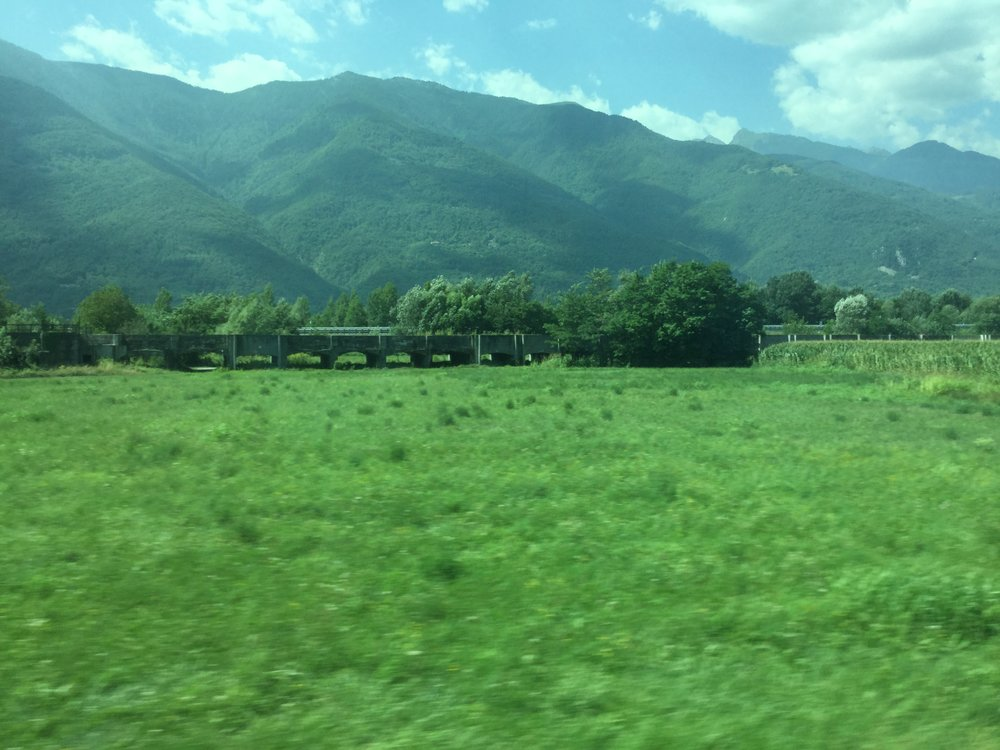 Aqueducts in the fields. They were built in the Roman times.