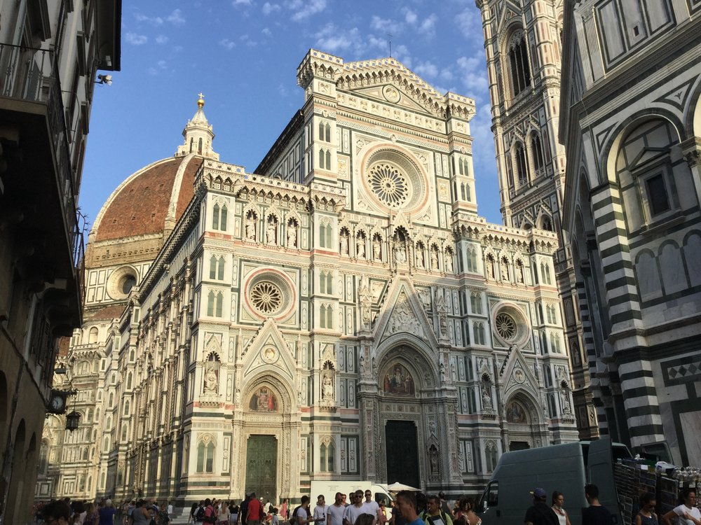 This is the Duomo. It is mind bogglingly huge and does not have a big plaza next to it so it feels even more huge.