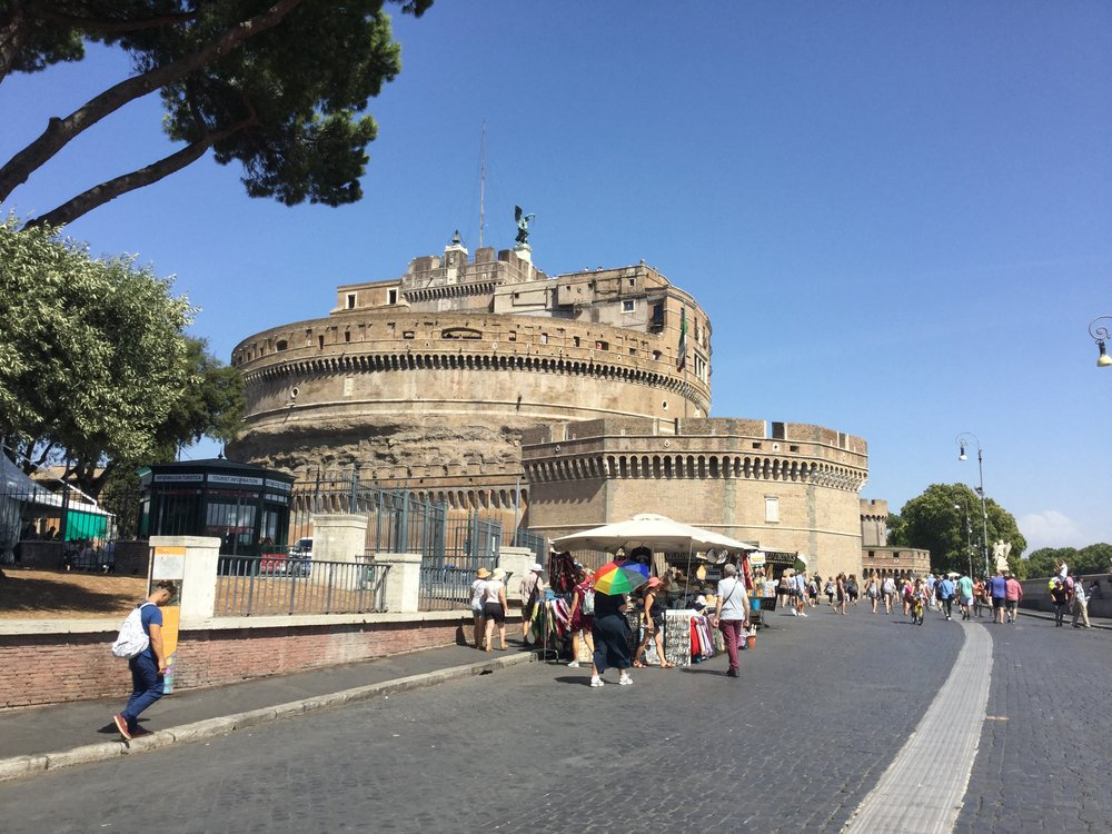 Castel Sant'Angelo. No sight of Tosca though.