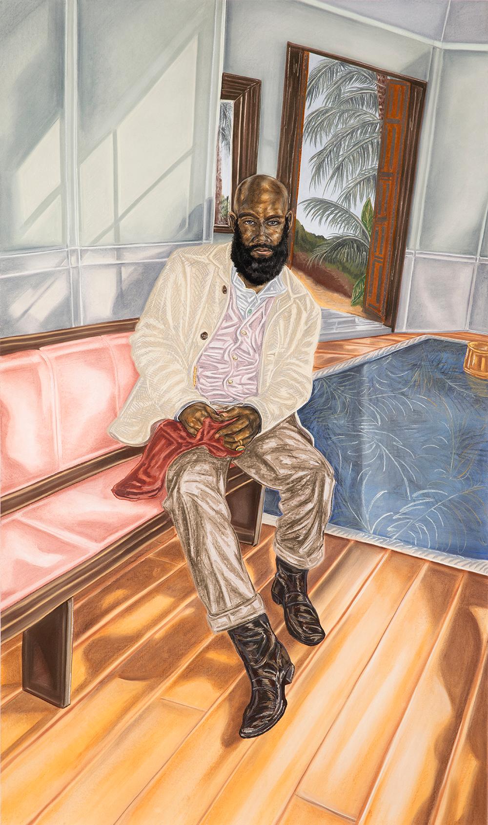 oyin Ojih Odutola. Years Later - Her Scarf, 2017