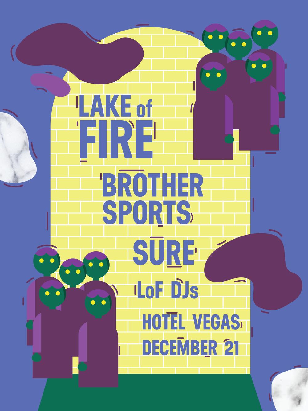 December 21, Austin, TX - Gig Poster for Hotel Vegas
