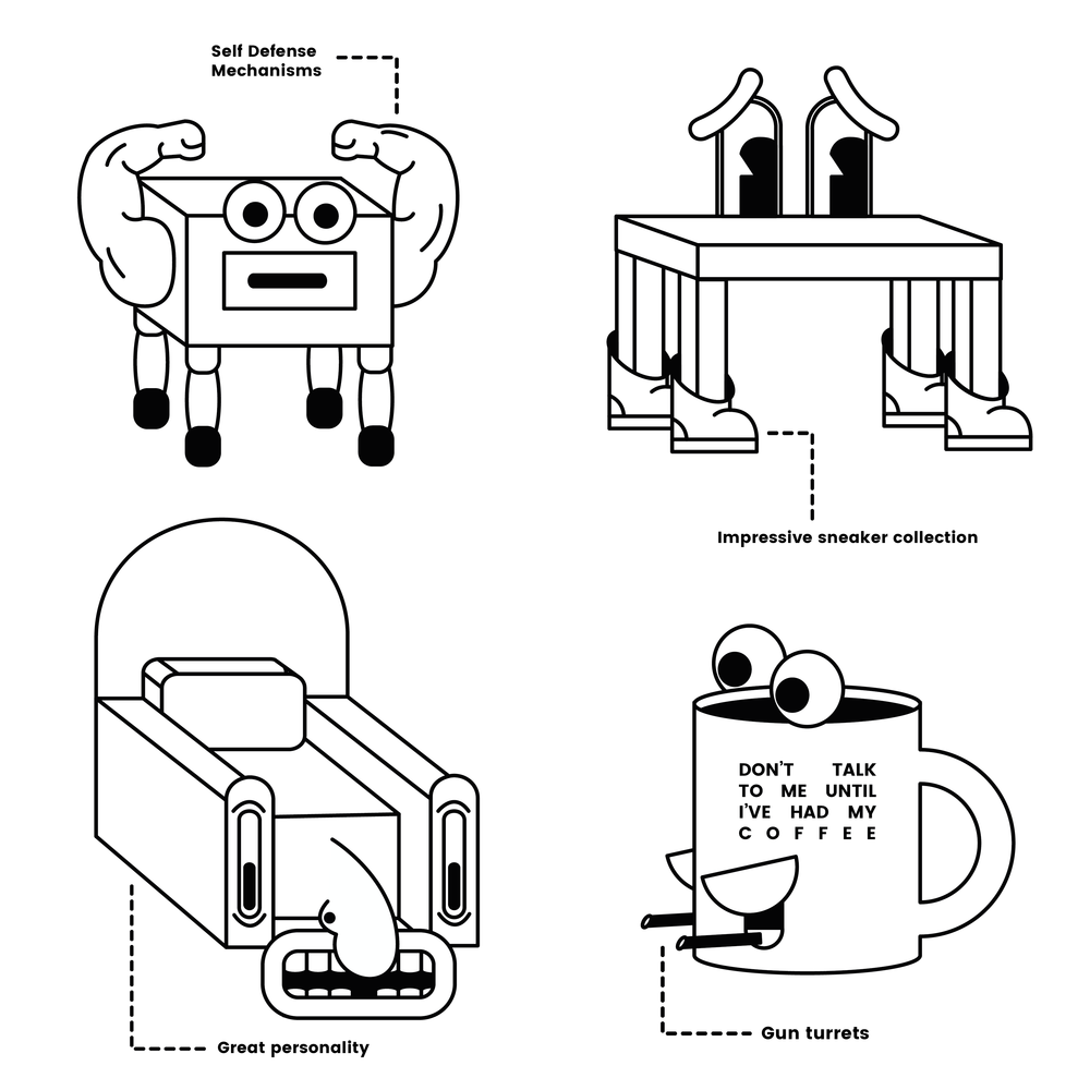 """Selections from """"The Future of Furniture"""" Zine"""