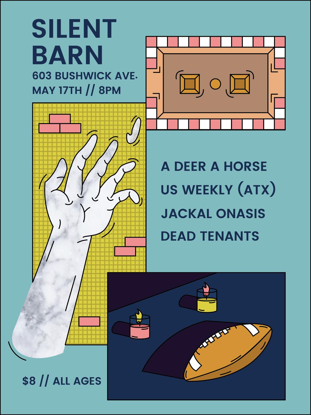 May 17, Brooklyn, NY - Gig Poster for Silent Barn