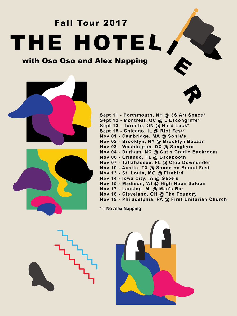 Tour Poster for The Hotelier, Fall Tour 2017
