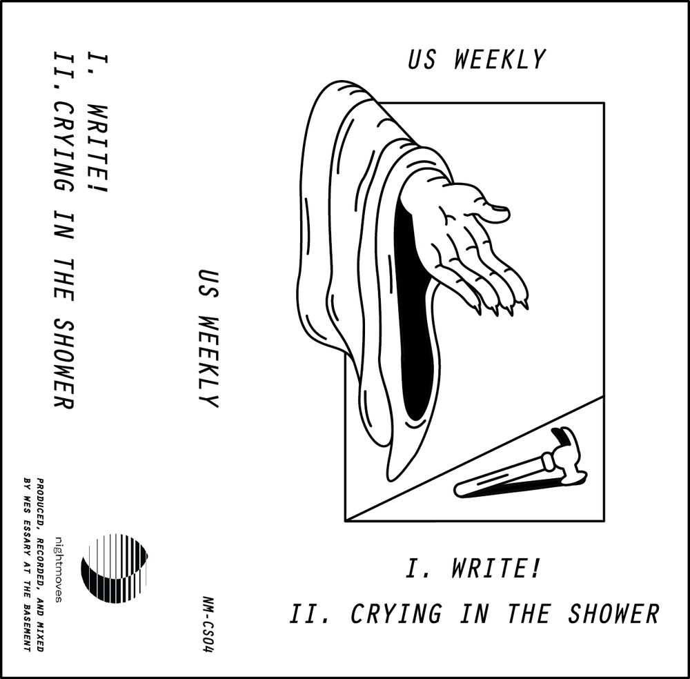 Cassette Tape illustration and layout for my band US Weekly, 2017
