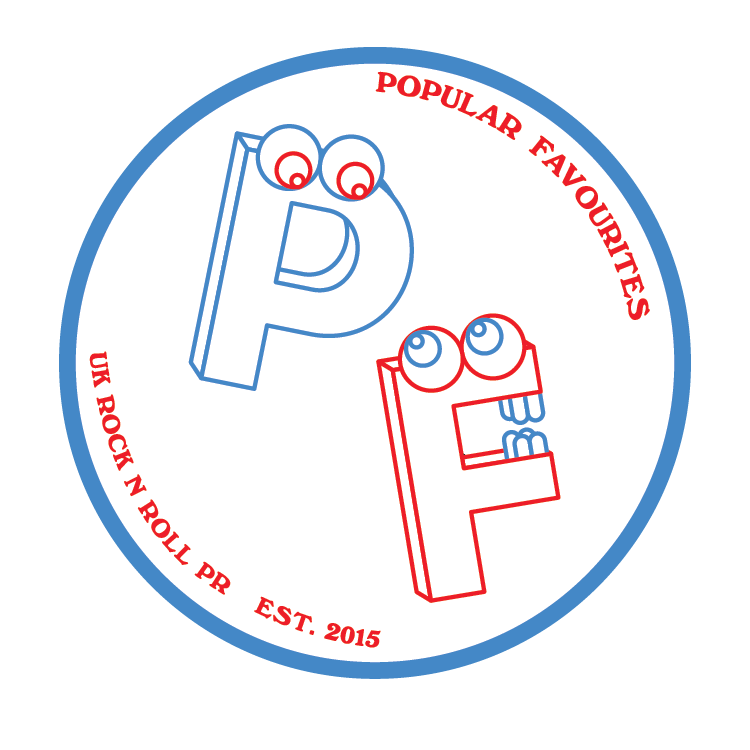 Identity graphic for UK based artist PR group Popular Favourites