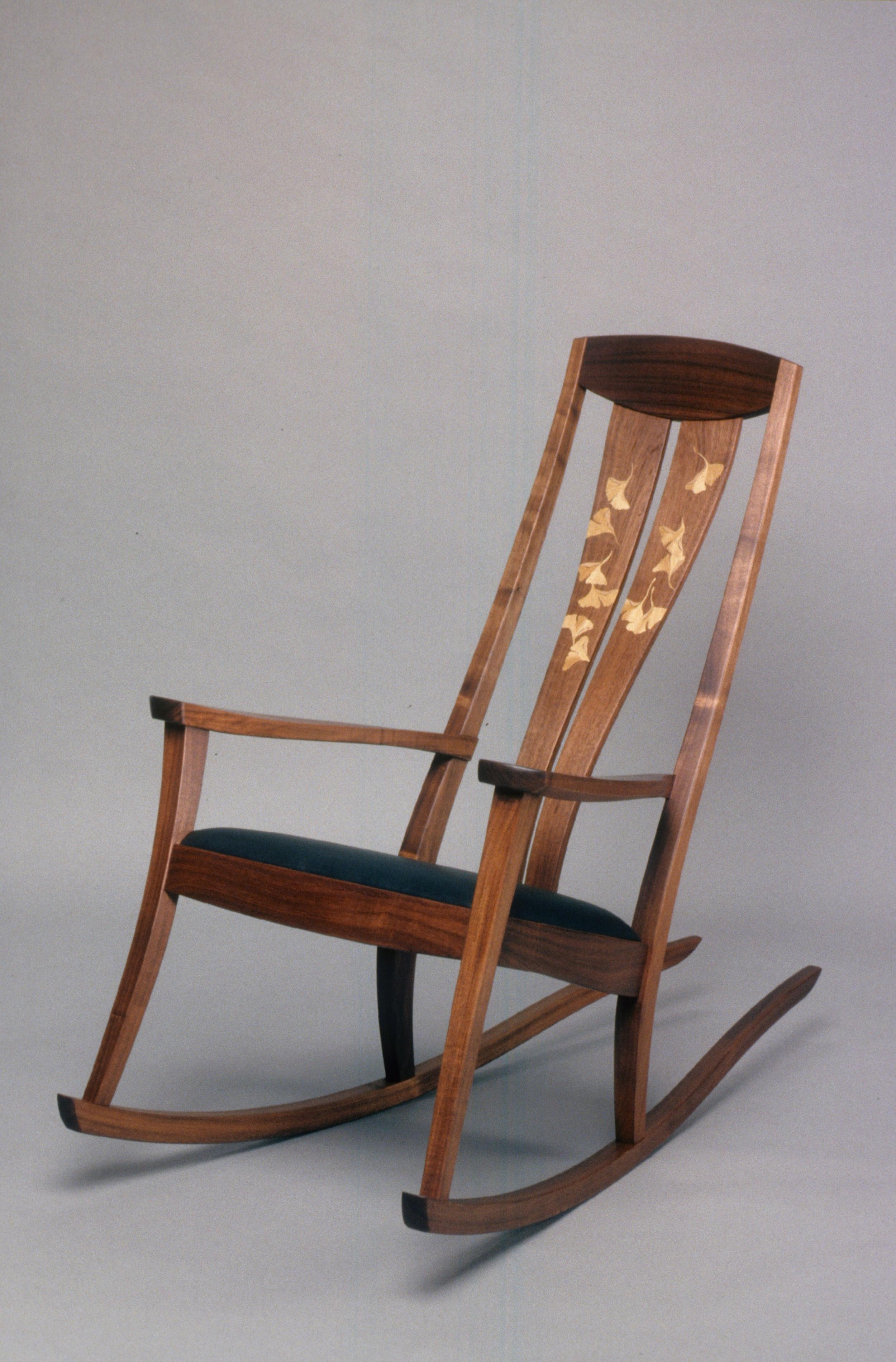 Plywood rocking chair - Narra Rocker Full Jpg