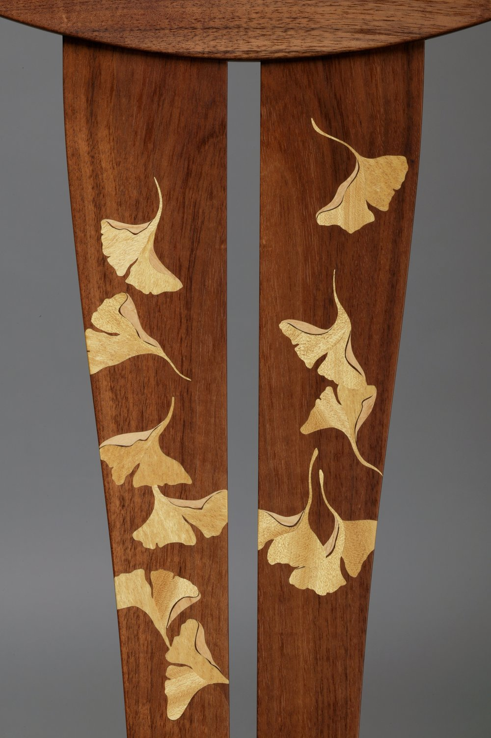 Marquetry detail; Ginkgo Rocking Chair