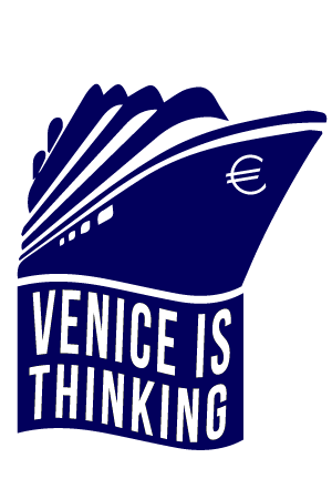 "Client: ""Venice is Thinking""  ""Venice is Thinking"" is a documentary project that examines the effects of cruise ships and tourism contributing to costal and environmental problems in Venice, Italy. This logo utilizes the cruise ship and euro to convey weight, dominance, and force."