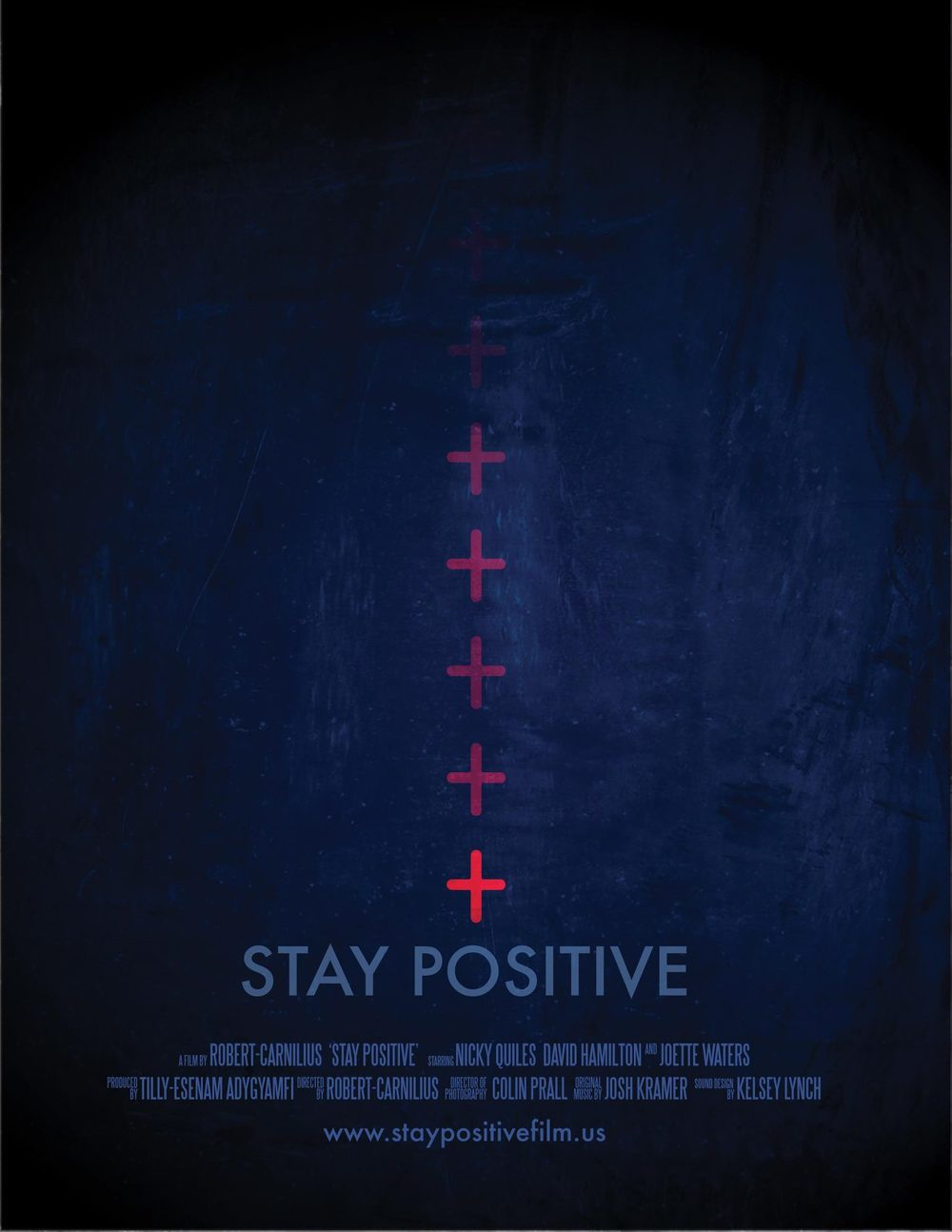 "Film:  ""Stay Positive""  Because this drama deals with overcoming  HIV/AIDS stigma, the design is inspired by a sense of waiting for your HIV test results which can seem long and bleak."