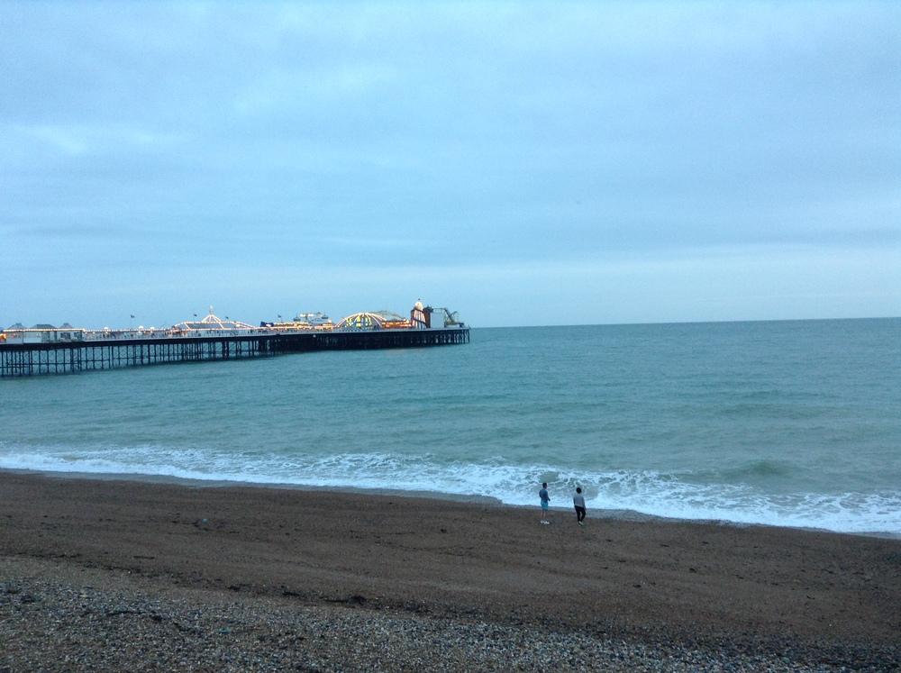 Brighton Beach with Brighton Pier in background