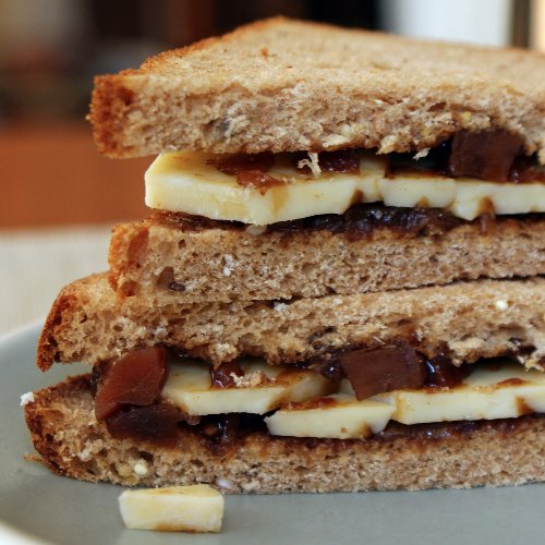A world-famous cheese-and-branston pickle sandwich