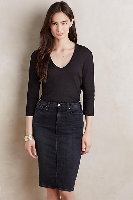 Anthropologie Ribbed Slim Tee