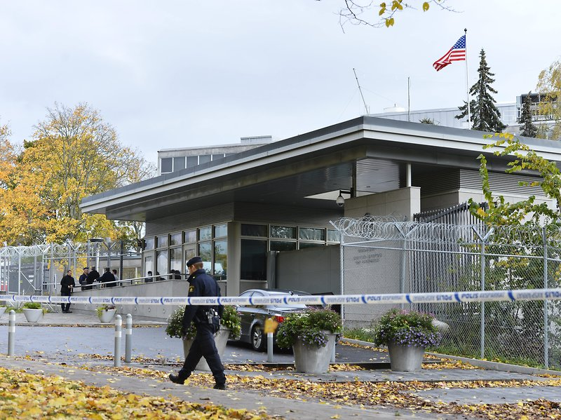 The US Embassy in Stockholm