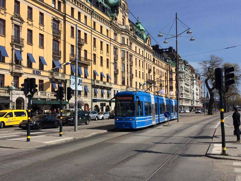 Tram in Norrmalm
