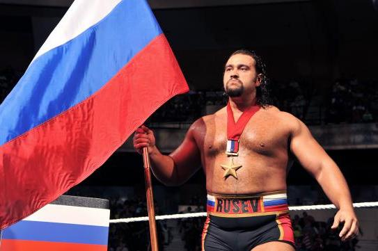 [He is actually Bulgarian, but most wrestling fans wouldn't know the difference]