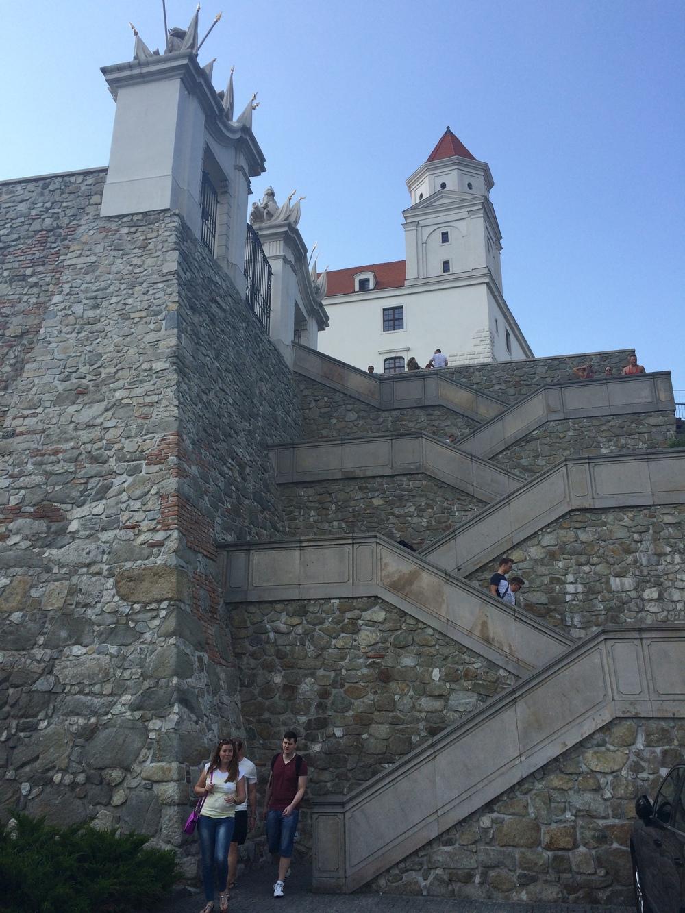 Steps up to Bratislava Castle