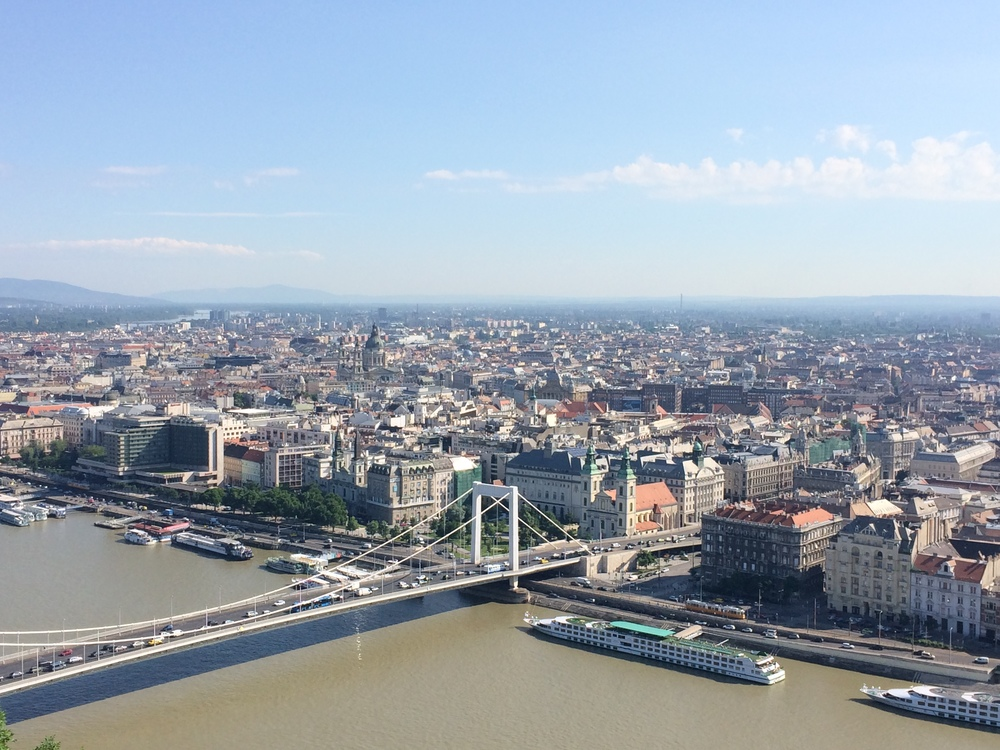 View from atop Gellert Hill