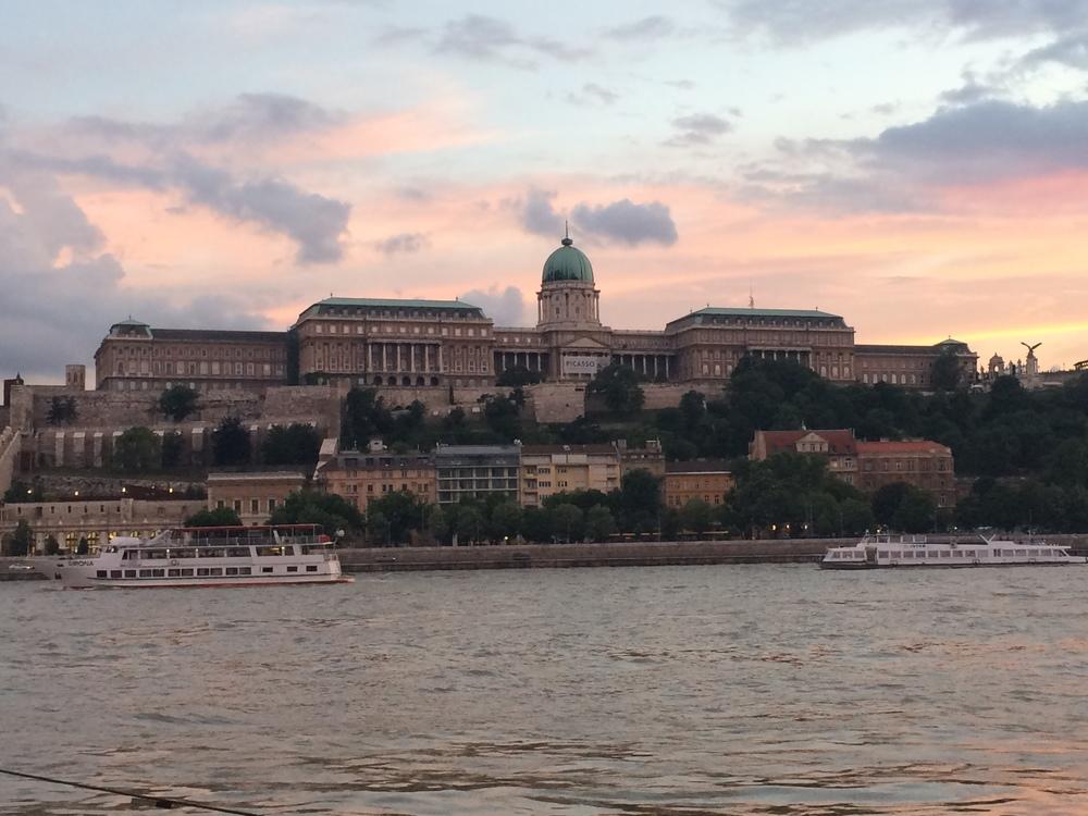 Buda Castle at dusk