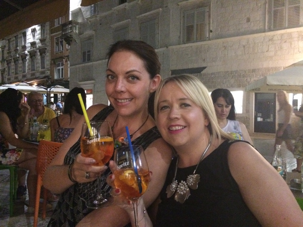 The official cocktail of a sweaty Adriatic summer:  Aperol spritz