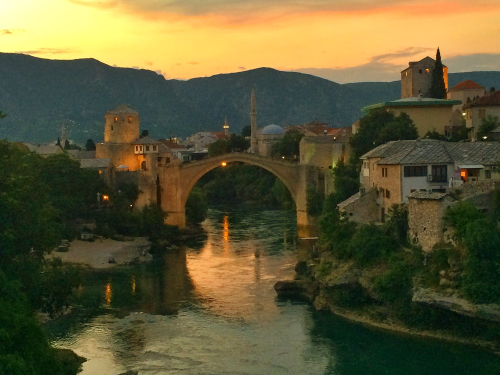 View from our balcony in Mostar, Bosnia & Herzegovina
