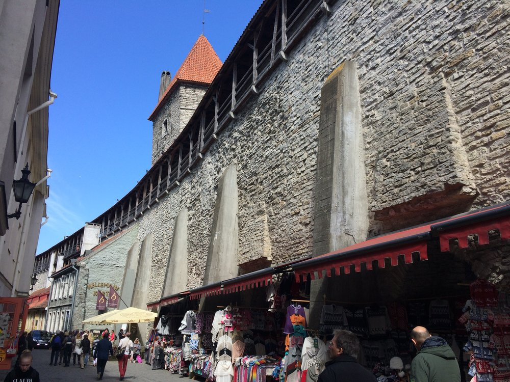 Old Town walls and souvenir shops