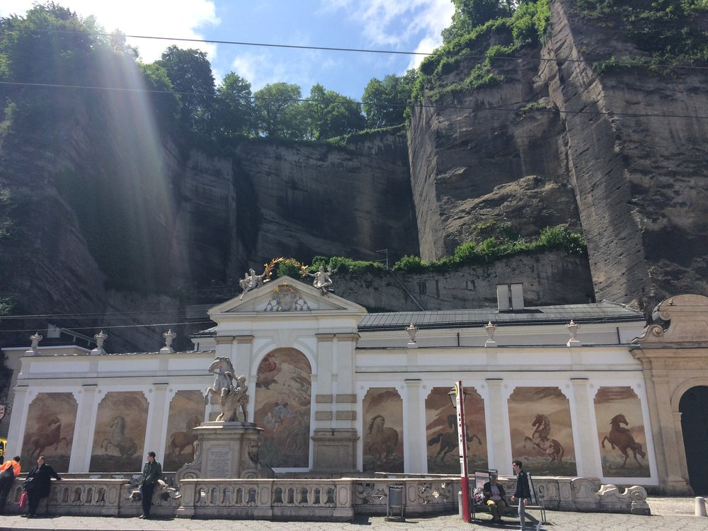 Horse bath- another site from  Do Re Mi in Sound of Music