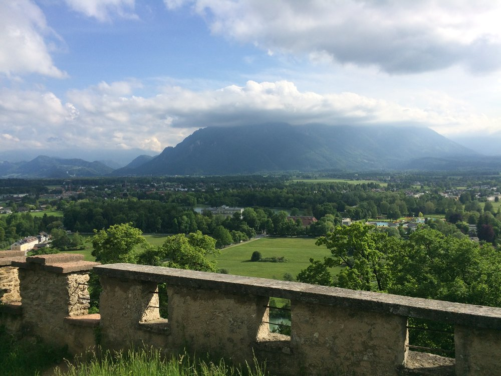 Another Sound of Music site- the house (center) where the veranda/river scenes were filmed