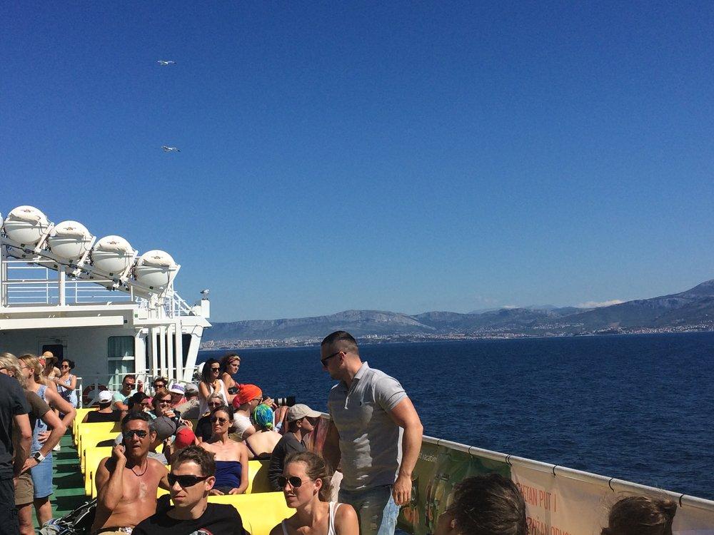 Ferry from Split to Supetar, Brac