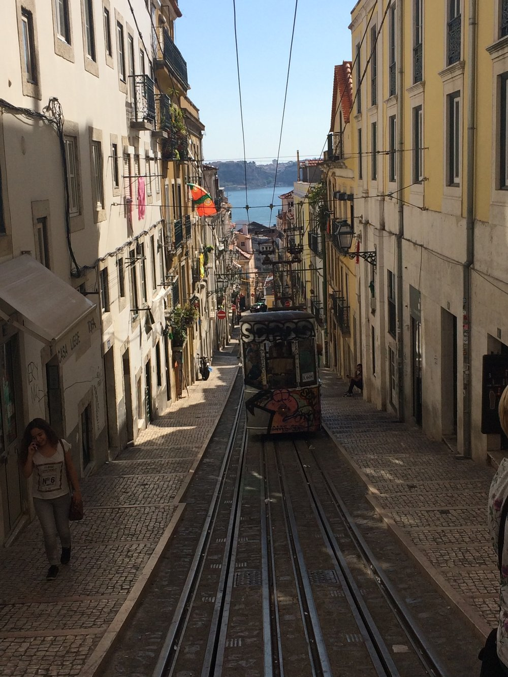 Lisbon's signature streetcars are everywhere