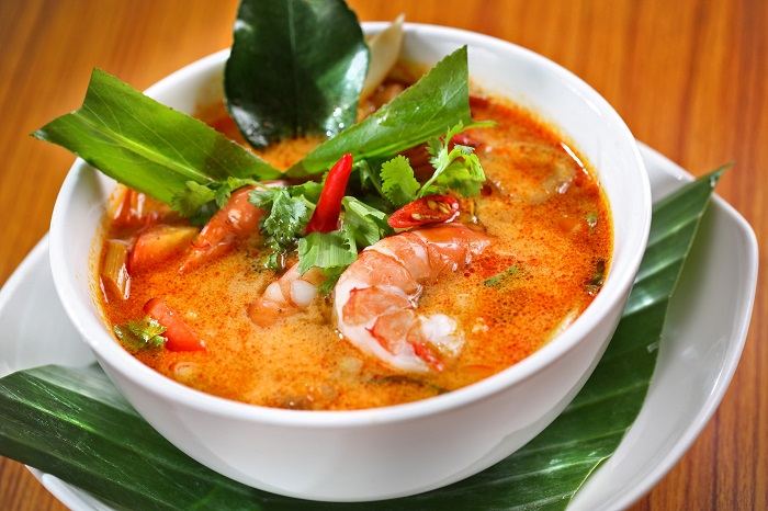 Fiery Thai specialty:  Tom Yum Goong.